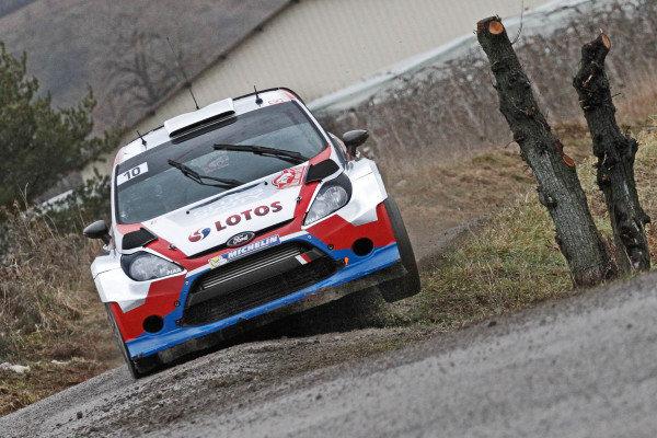 Robert Kubica (POL) / Maciek Szczepaniak (POL), Ford Fiesta RS WRC. FIA World Rally Championship, Rd1, Rally Monte Carlo, Day Two, Monte Carlo, 17 January 2014.
