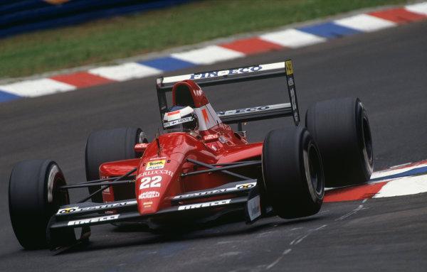 Hockenheim, Germany. 26th - 28th July 1991.J J. Lehto (Dallara BMS191-Judd), retired, action. World Copyright: LAT Photographic.Ref:  91GER