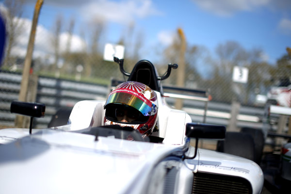 2016 BRDC British Formula 3 Championship, Brands Hatch, Kent. 16th - 17th April 2016. Raoul Hyman (RSA) HHC Motorsport BRDC F3. World Copyright: Ebrey / LAT Photographic.