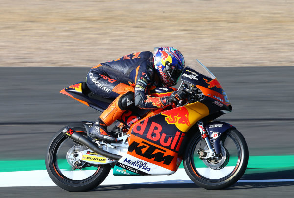 2017 Moto3 Championship - Round 12 Silverstone, Northamptonshire, UK. Friday 25 August 2017 Niccolo Antoneli, Red Bull KTM Ajo World Copyright: Gold and Goose / LAT Images ref: Digital Image 688464