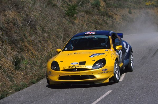 Martin Rowe (GBR) kicks up the dust during the Rally Catalunya in his 1600cc Ford Puma Junior World Rally car.World Rally Championship, Rd4, Rally of Catalunya, Spain, 22-24 March 2002.