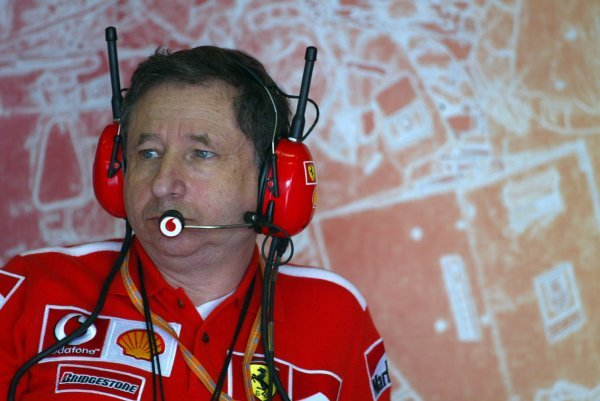Jean Todt (FRA) Ferrari General Manager.
