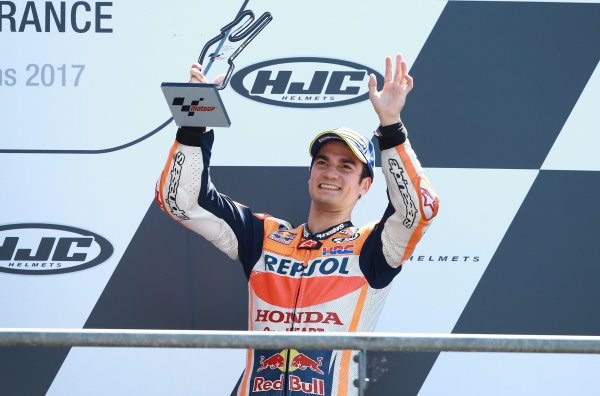 2017 MotoGP Championship - Round 5 Le Mans, France Sunday 21 May 2017 Third place Dani Pedrosa, Repsol Honda Team World Copyright: Gold & Goose Photography/LAT Images ref: Digital Image 671744