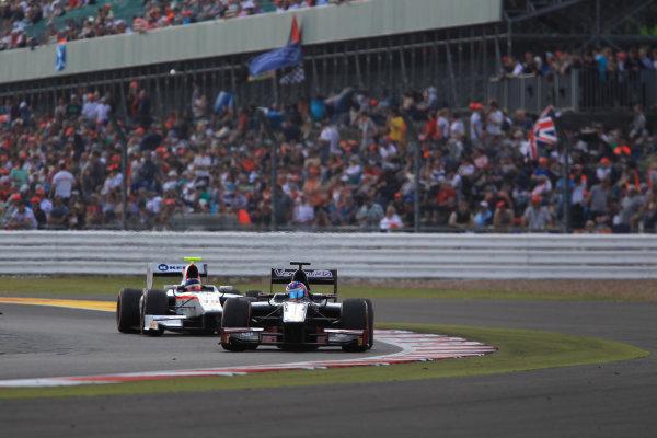 2013 GP2 Series. Round 5. Silverstone, Northamptonshire, England. 30th June. Sunday Race. Rene Binder (AUT, Venezuela GP Lazarus). Action.  World Copyright: Jakob Ebrey/GP2 Series Media Service. Ref: JE2_4198