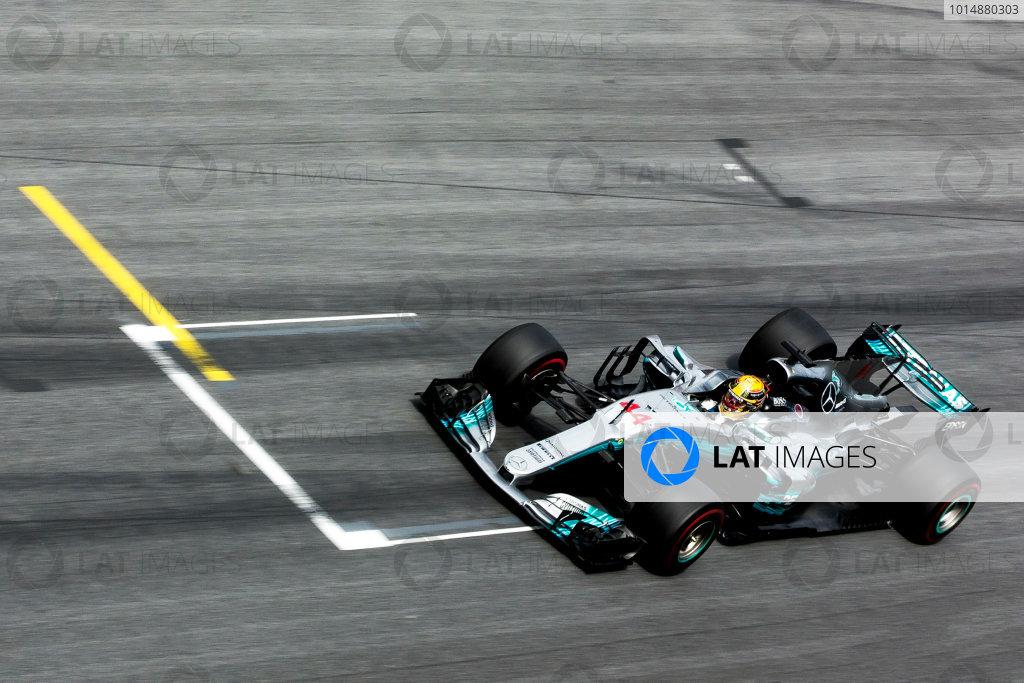 Red Bull Ring, Spielberg, Austria. Sunday 9 July 2017. Lewis Hamilton, Mercedes F1 W08 EQ Power+. World Copyright: Joe Portlock/LAT Images ref: Digital Image _L5R4075