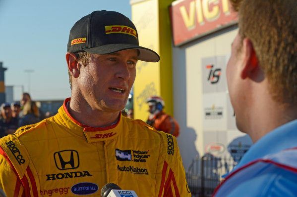 Verizon IndyCar Series Iowa Corn 300 Iowa Speedway, Newton, IA USA Sunday 9 July 2017 Ryan Hunter-Reay, Andretti Autosport Honda (3rd). World Copyright: F. Peirce Williams LAT Images