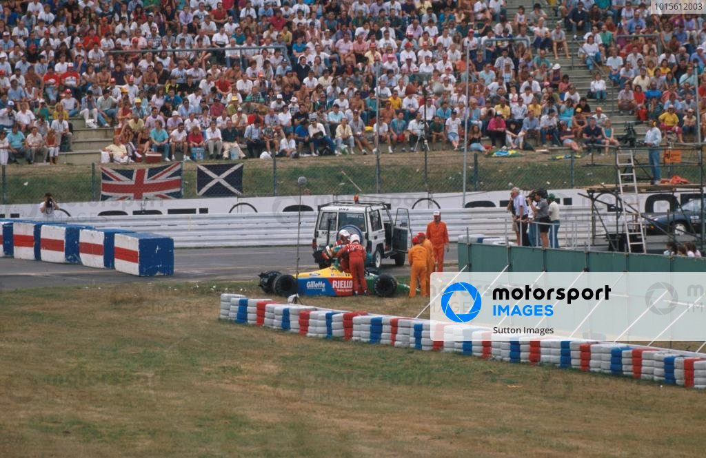 Emanuele Pirro (ITA) Benetton B189, DNF.