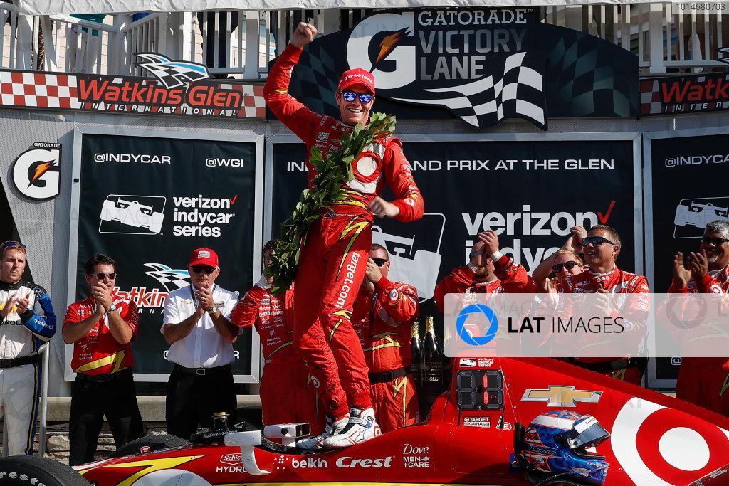 2-4 September, 2016, Watkins Glen, New York,  USA Scott Dixon celebrates in victory lane ?2016, Michael L. Levitt LAT Photo USA