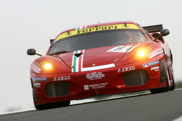 Silverstone, Great Britain. 3rd - 5th May 2009.Alvaro Barba Lopez (ESP)/Niki Cadei (ITA) - AF Corse Ferrari F430.World Copyright: Ebrey/LAT Photographic.