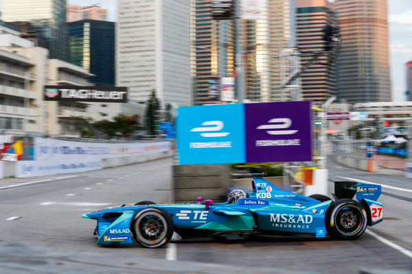 2017/2018 FIA Formula E Championship. Round 1 - Hong Kong, China. Saturday 02 December 2017. Kamui Kobayashi (JAP), MS + AD Andretti Formula E, Andretti ATEC-03. Photo: Sam Bloxham/LAT/Formula E ref: Digital Image _W6I5488