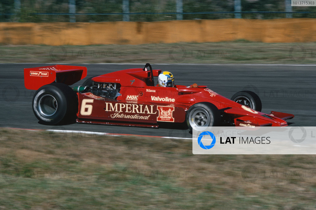 Fuji, Shizuoka, Japan. 21-23 October 1977. Gunnar Nilsson, Lotus 78 Ford. He retired due to gearbox problems. Ref: 77JAP07. World Copyright - LAT Photographic