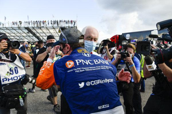 #9 Scott Dixon, Chip Ganassi Racing Honda, and Roger Penske
