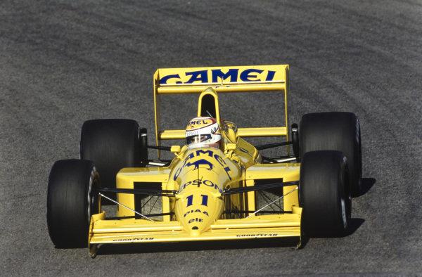 Nelson Piquet, Lotus 101 Judd.