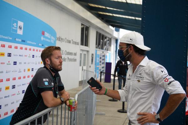 Sam Bird (GBR), Jaguar Racing, is interviewed by Jean-Eric Vergne (FRA), DS Techeetah