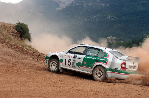 World Rally Championship, Acropolis Rally, June 13-16, 2002.Toni Gardemeister during shakedown.Photo: Ralph Hardwick/LAT