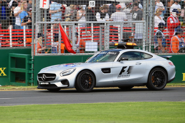 Safety car and red flag is shown at Formula One World Championship, Rd1, Australian Grand Prix, Race, Albert Park, Melbourne, Australia, Sunday 20 March 2016.