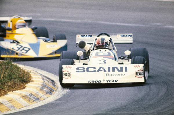 Maurizio Flammini, March 762 BMW/Rosche, leads Alberto Colombo, March 752 BMW.