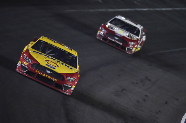 #22: Joey Logano, Team Penske, Ford Mustang Shell Pennzoil, #12: Ryan Blaney, Team Penske, Ford Mustang BodyArmor