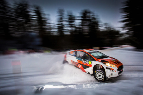 Hiroki Arai (JPN) / Glenn Macneall (AUS) Ford R5 at World Rally Championship, Rd2, Rally Sweden, Day Three, Karlstad, Sweden, 12 February 2017.