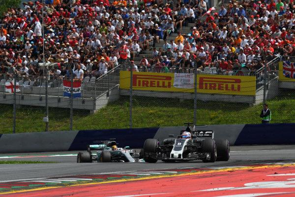 Romain Grosjean (FRA) Haas VF-17 at Formula One World Championship, Rd9, Austrian Grand Prix, Race, Spielberg, Austria, Sunday 9 July 2017.
