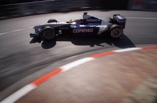 2001 Monaco Grand Prix - QualifyingMonte Carlo, Monaco. 28th May 2001.Juan Pablo Montoya, BMW Williams FW23, action.World Copyright: Steve Etherington/LAT Photographicref: 17 7 mb Digital Image
