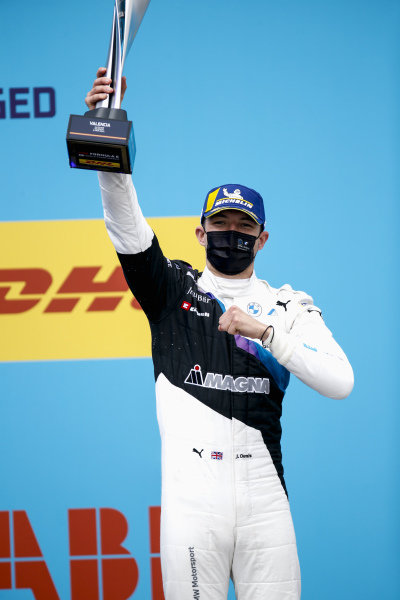 Jake Dennis (GBR), BMW I Andretti Motorsport, 1st position, with his trophy