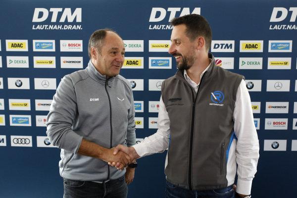 Gerhard Berger, ITR Chairman, Dr. Florian Kamelger, Founder and owner AF Racing AG and Team principal R-Motorsport.