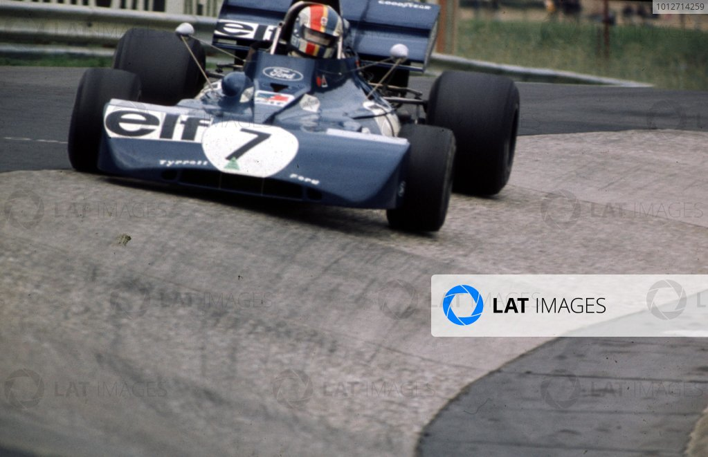 1972 German Grand Prix.Nurburgring, Germany.28-30 July 1972.Francois Cevert (Tyrrell 002 Ford) 10th position.World Copyright - LAT Photographic