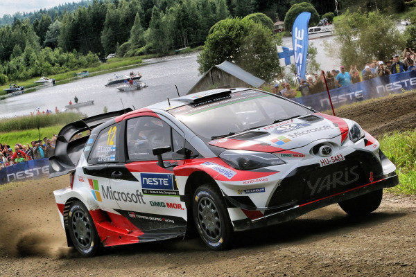 Esapekka Lappi (FIN) / Janne Ferm (FIN), Toyota Gazoo Racing WRT Toyota Yaris WRC at World Rally Championship, Rd9, Rally Finland, Day Two, Jyvaskyla, Finland, 29 July 2017.