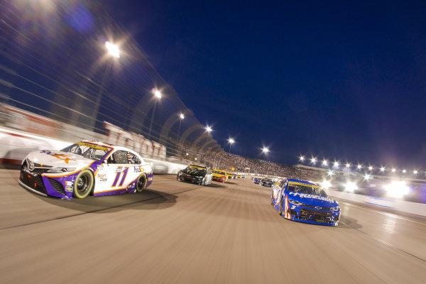 #11: Denny Hamlin, Joe Gibbs Racing, Toyota Camry FedEx Ground, #5: Kyle Larson, Hendrick Motorsports, Chevrolet Camaro HendrickCars.com