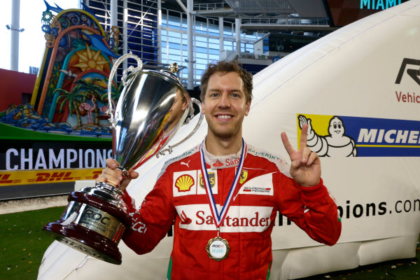2017 Race of Champions Miami, Florida, USA Sunday 22 January 2017 Winner Nations Cup, Sebastian Vettel World Copyright: Alexander Trienitz/LAT Photographic ref: Digital Image 2017-RoC-MIA-AT1-1631