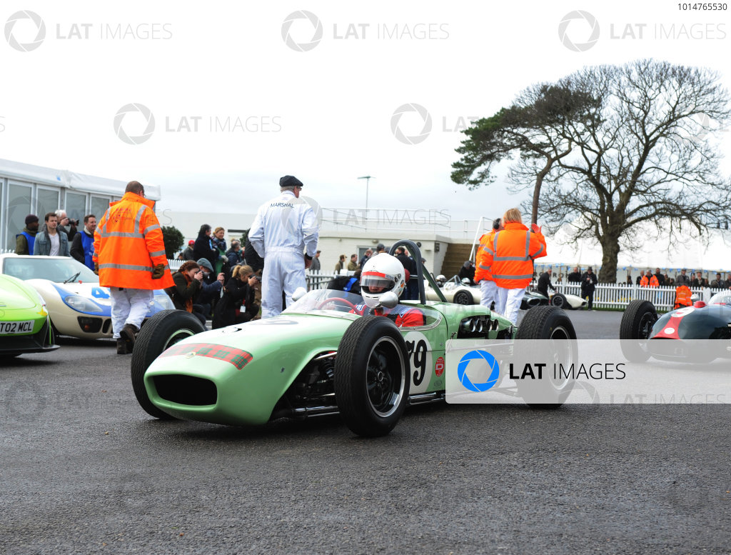 2017 75th Members Meeting Goodwood Estate, West Sussex,England 18th - 19th March 2017 Brabham Trophy Hibberd Lotus 18 World Copyright : Jeff Bloxham/LAT Images Ref : Digital Image