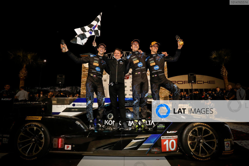 2017 IMSA WeatherTech SportsCar Championship Mobil 1 Twelve Hours of Sebring Sebring International Raceway, Sebring, FL USA Saturday 18 March 2017 Winners 10, Cadillac DPi, P, Ricky Taylor, Wayne Taylor, Jordan Taylor, Alexander Lynn, victory lane World Copyright: Michael L. Levitt/LAT Images ref: Digital Image levitt_seb_0317-31599