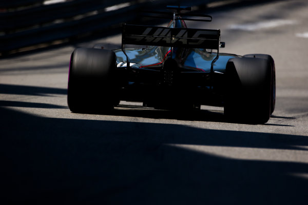 Monte Carlo, Monaco. Saturday 27 May 2017. Romain Grosjean, Haas VF-17. World Copyright: Charles Coates/LAT Images ref: Digital Image AN7T7409