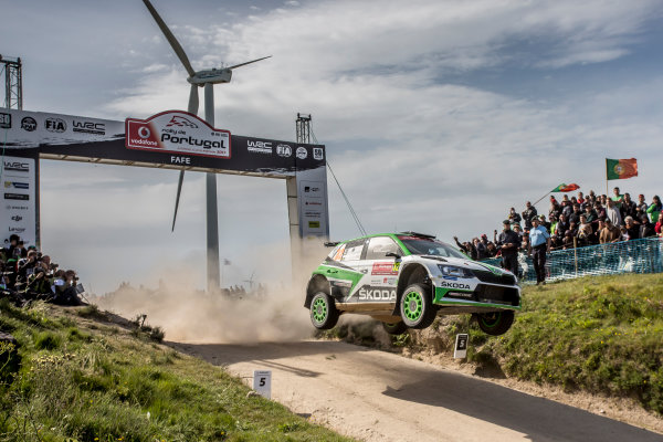 2017 FIA World Rally Championship, Round 06, Rally Portugal, May 18 - 21 2017, Pontus Tidemand, Skoda, action, Worldwide Copyright: McKlein/LAT