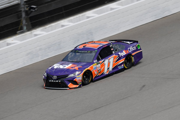 Monster Energy NASCAR Cup Series Pure Michigan 400 Michigan International Speedway, Brooklyn, MI USA Friday 11 August 2017 Denny Hamlin, Joe Gibbs Racing, FedEx Office Toyota Camry World Copyright: Logan Whitton LAT Images