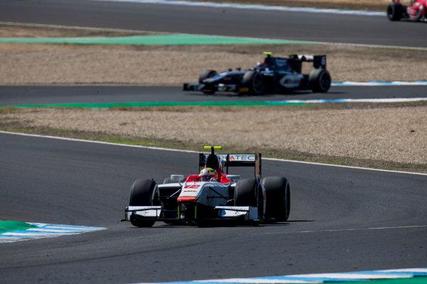 2017 FIA Formula 2 Round 10. Circuito de Jerez, Jerez, Spain. Sunday 8 October 2017. Alex Palou (JPN, Campos Racing).  Photo: Zak Mauger/FIA Formula 2. ref: Digital Image _56I7782
