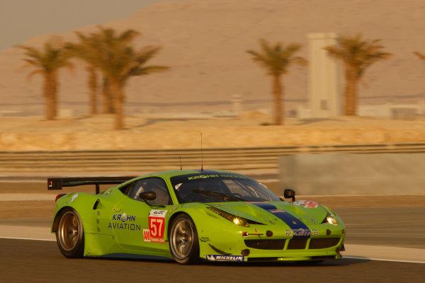 Bahrain, 27th-29th September 2012,Tracy Krohn/Niclas Jonsson/Michele Rugolo Krohn Racing Ferrari 458 ItaliaWorld copyright: Ebrey/LAT Photographic