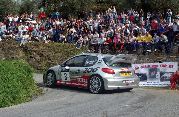 2002 World Rally Championship.Rallye d'Italia, 20-22 September.Sanremo, Italy.Gilles Panizzi durng shakedown.Photo: Ralph Hardwick/LAT