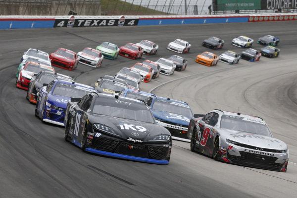 #18: Kyle Busch, Joe Gibbs Racing, Toyota Supra iK9 #9: Noah Gragson, JR Motorsports, Chevrolet Camaro Switch
