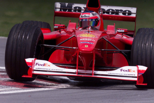 2000 Canadian Grand Prix.Montreal, Quebec, Canada.16-18 June 2000.Rubens Barrichello (Ferrari F1-2000) 2nd position.World Copyright - LAT PhotographicRef: 35mm transparency