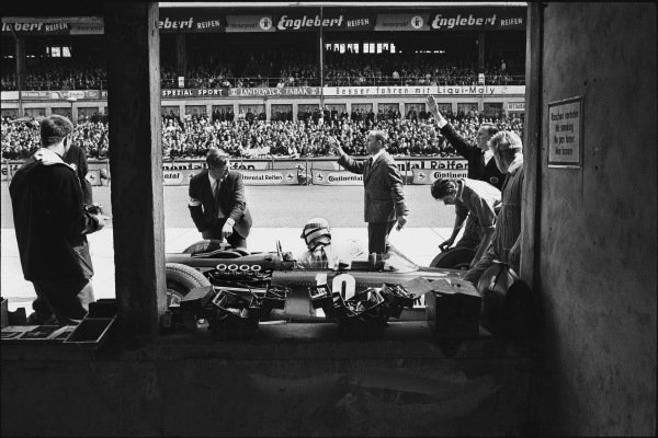 Nurburgring, Germany. 1st August 1965. Jackie Stewart, (BRM P261), retired, action. World Copyright: LAT Photographic. Ref: L65 - 394 -15.