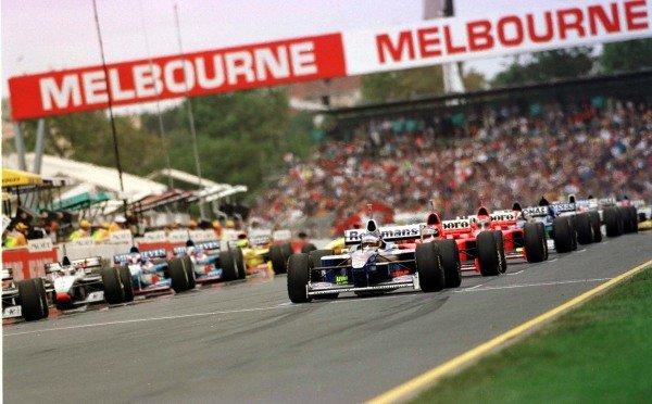 1997 Australian Grand Prix.Albert Park, Melbourne, Australia.7-9 March 1997.Jacques Villeneuve (Williams FW19 Renault) on pole position.World Copyright - LAT Photographic