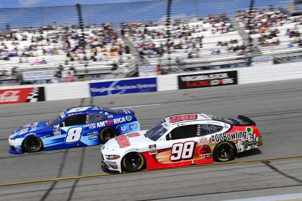 #8: Dale Earnhardt Jr., JR Motorsports, Chevrolet Camaro Unilever United For America, #98: Riley Herbst, Stewart-Haas Racing, Ford Mustang Go Bowling
