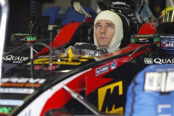 2002 Belgian Grand Prix - PracticeSpa-Francorchamps, Belgium. 30th August 2002.Mark Webber (Minardi Asiatech).World Copyright: Steve Etherington/LATref: Digital Image Only