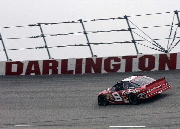 2002 NASCAR,Darlington Raceway,Aug 30-Sept 1 20022002 NASCAR, Darlington,SC. USA -Dale Earnhardt Jr. taking some practice under the dark skies,Copyright-Robt LeSieur2002LAT Photographic