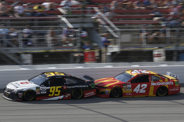 #95: Matt DiBenedetto, Leavine Family Racing, Toyota Camry Toyota Express Maintenance #42: Kyle Larson, Chip Ganassi Racing, Chevrolet Camaro McDonald's