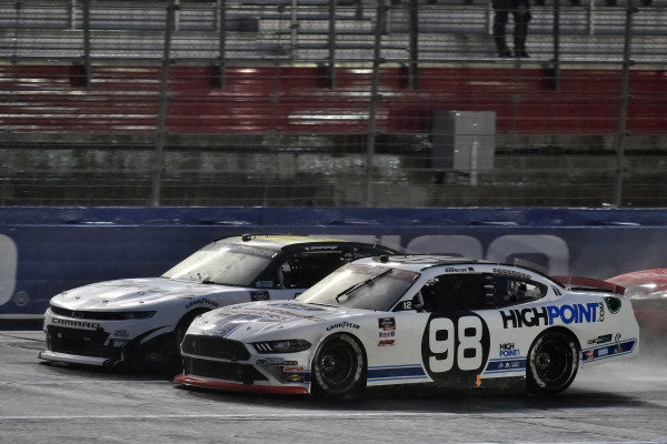 #98: Chase Briscoe, Stewart-Haas Racing, Ford Mustang Ford Performance Racing School and #16: A.J. Allmendinger, Kaulig Racing, Chevrolet Camaro Ellsworth Advisors