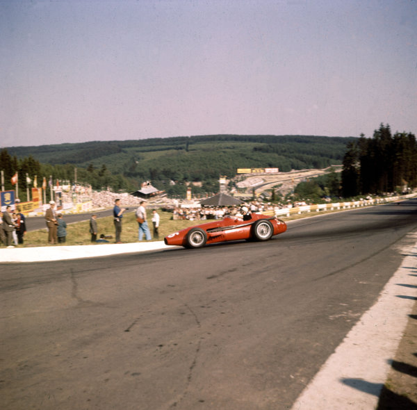 1958 Belgian Grand Prix.Spa-Francorchamps, Belgium.13-15 June 1958.Jo Bonnier (Maserati 250F) 10th position.Ref-3/0047.World Copyright - LAT Photographic