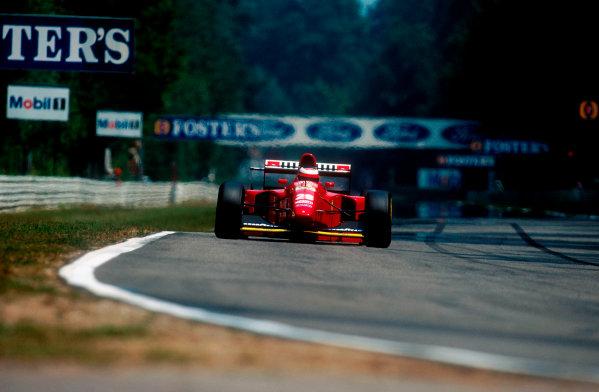 1994 German Grand Prix.Hockenheim, Germany.29-31 July 1994.Gerhard Berger (Ferrari 412T1B) 1st position.Ref-94 GER 03.World Copyright - LAT Photographic